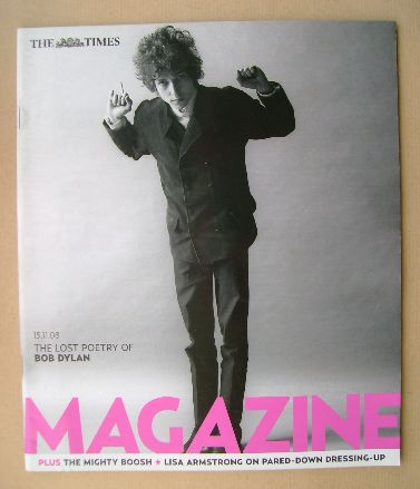 <!--2008-11-15-->The Times magazine - Bob Dylan cover (15 November 2008)