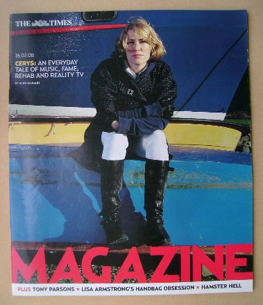 <!--2008-02-16-->The Times magazine - Cerys Matthews cover (16 February 200