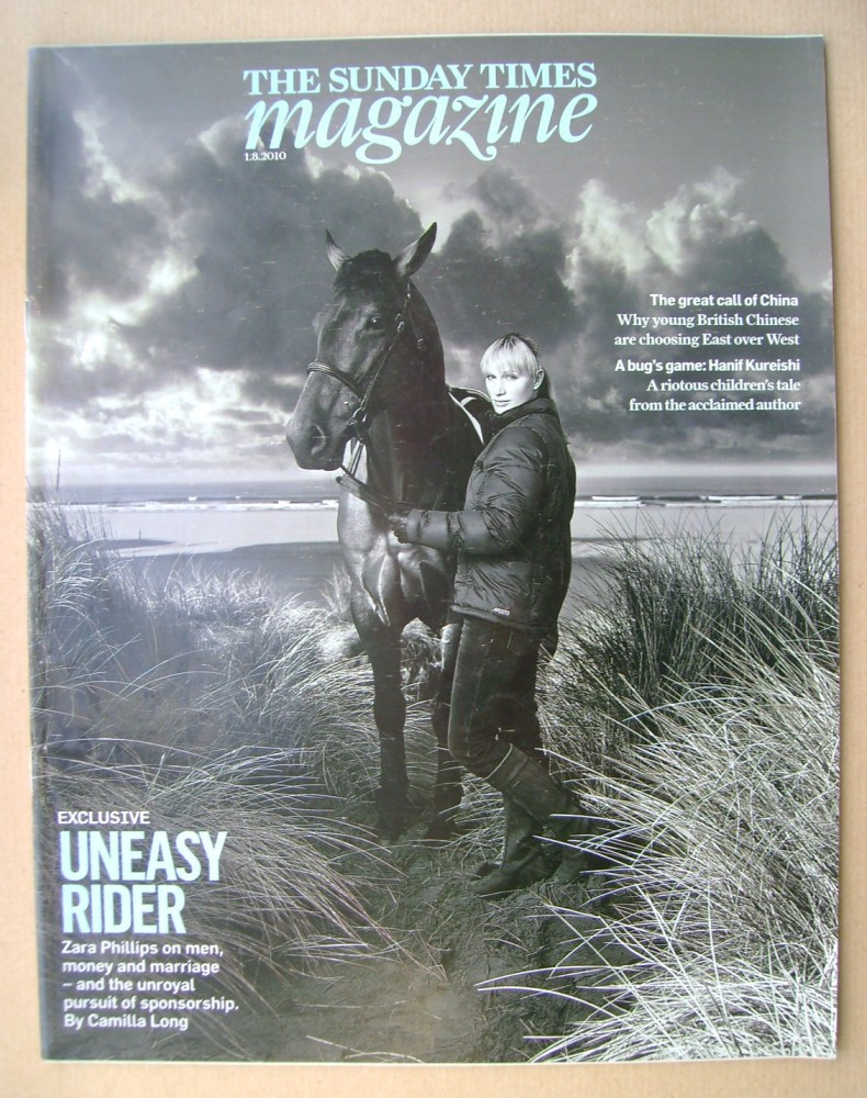 <!--2010-08-01-->The Sunday Times magazine - Zara Phillips cover (1 August