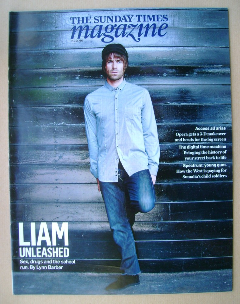 <!--2010-07-18-->The Sunday Times magazine - Liam Gallagher cover (18 July