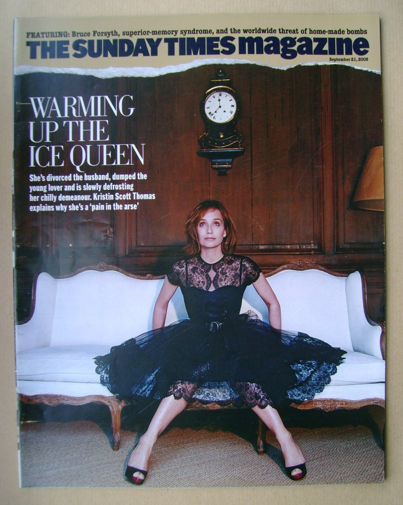 <!--2008-09-21-->The Sunday Times magazine - Kristin Scott Thomas cover (21