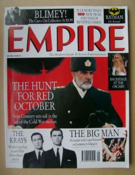 <!--1990-05-->Empire magazine - Sean Connery cover (May 1990 - Issue 11)