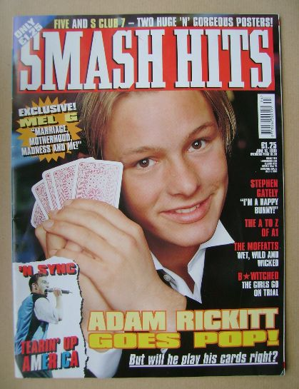 <!--1999-06-16-->Smash Hits magazine - Adam Rickitt cover (16 June 1999)