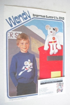 Dangermouse Sweater and Toy Knitting Pattern (Wendy 2349) (24-30 inch)