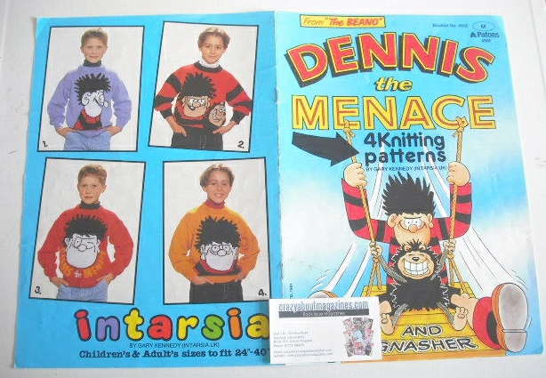 Dennis the Menace Sweater Knitting Patterns x4 (Patons 4566) (Child/Adult S