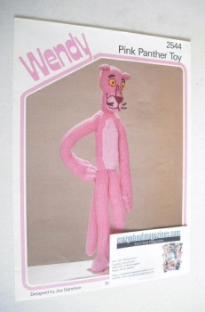 Pink Panther Toy Knitting Pattern (Wendy 2544)