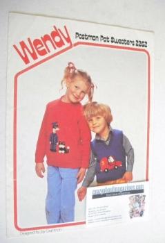 Postman Pat Sweater Knitting Pattern (Wendy 2262) (Child Size)