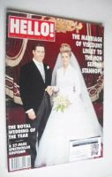 <!--1993-10-16-->Hello! magazine - Viscount Linley and Serena Stanhope wedding cover (16 October 1993 - Issue 275)