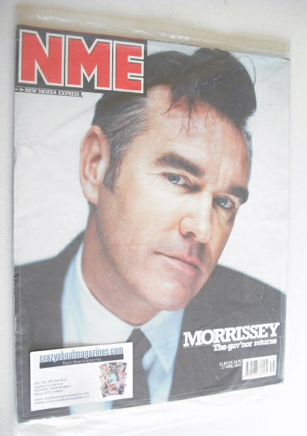 <!--2004-04-17-->NME magazine - Morrissey cover (17 April 2004)