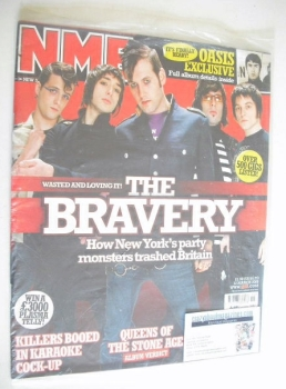 NME magazine - The Bravery cover (12 March 2005)