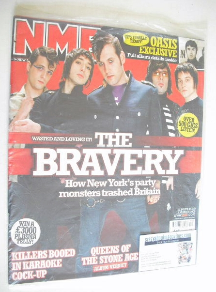 <!--2005-03-12-->NME magazine - The Bravery cover (12 March 2005)