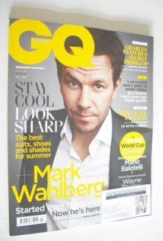 British GQ magazine - July 2014 - Mark Wahlberg cover