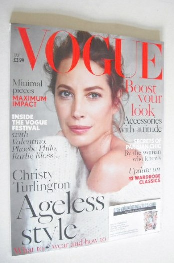 <!--2014-07-->British Vogue magazine - July 2014 - Christy Turlington cover
