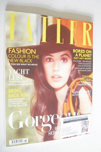 <!--2014-08-->Tatler magazine - August 2014 - Gala Gordon cover