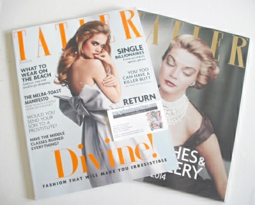 <!--2014-07-->Tatler magazine - July 2014 - Cara Delevingne cover