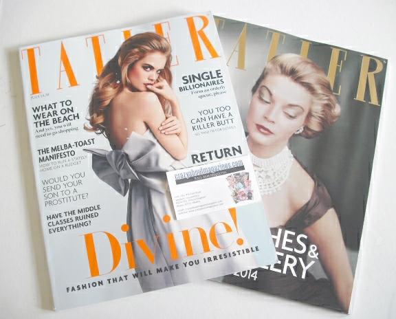 <!--2014-07-->Tatler magazine - July 2014 - Cara Delevingne cover