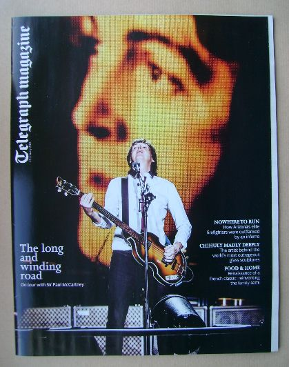 <!--2014-01-25-->Telegraph magazine - Sir Paul McCartney cover (25 January