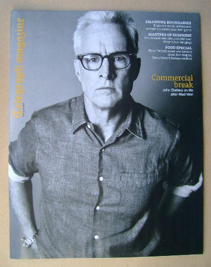 <!--2014-08-09-->Telegraph magazine - John Slattery cover (9 August 2014)