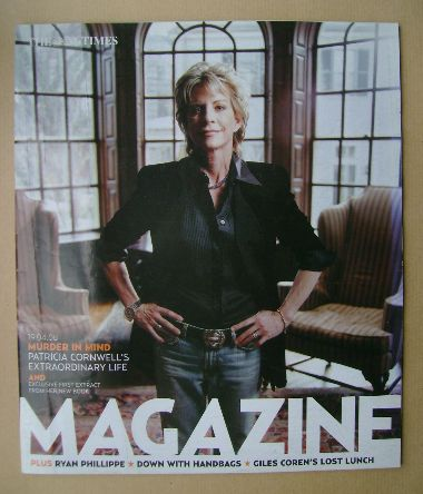 <!--2008-04-19-->The Times magazine - Patricia Cornwell cover (19 April 200