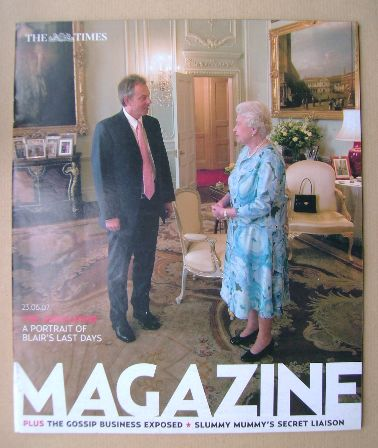 <!--2007-06-23-->The Times magazine - Tony Blair and The Queen cover (23 Ju