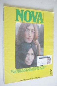 NOVA magazine - March 1969 - John Lennon and Yoko Ono cover