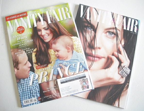 <!--2014-08-->Vanity Fair magazine - William, Kate and Prince George cover
