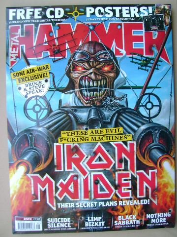 <!--2014-08-->Metal Hammer magazine - Iron Maiden cover (August 2014)
