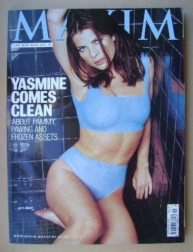 <!--1999-10-->MAXIM magazine - Yasmine Bleeth cover (October 1999)