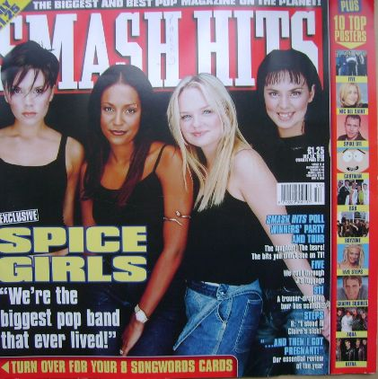 <!--1998-12-30-->Smash Hits magazine - Spice Girls cover (30 December 1998)