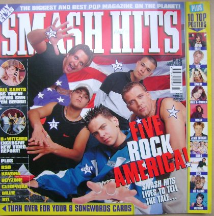 <!--1998-08-12-->Smash Hits magazine - Five cover (12 August 1998)