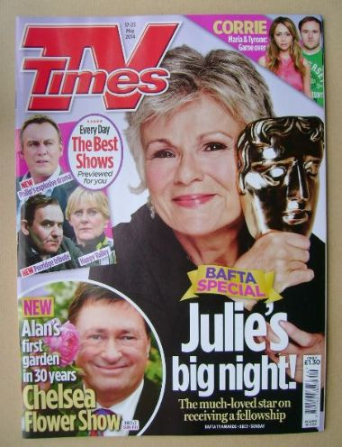 <!--2014-05-17-->TV Times magazine - Julie Walters cover (17-23 May 2014)