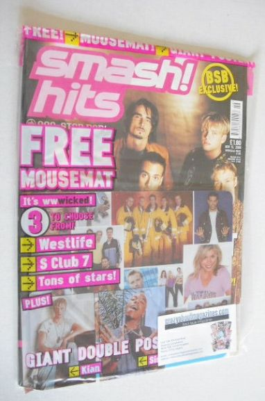 <!--2000-11-15-->Smash Hits magazine - Backstreet Boys cover (15 November 2