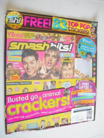 <!--2004-04-02-->Smash Hits magazine - Busted cover (2-15 April 2004)