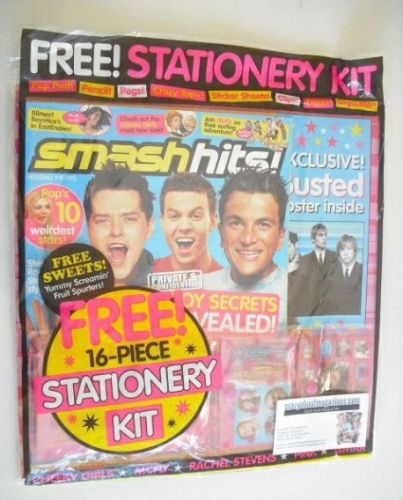 <!--2004-04-16-->Smash Hits magazine - Boy Secrets Revealed cover (16-29 Ap