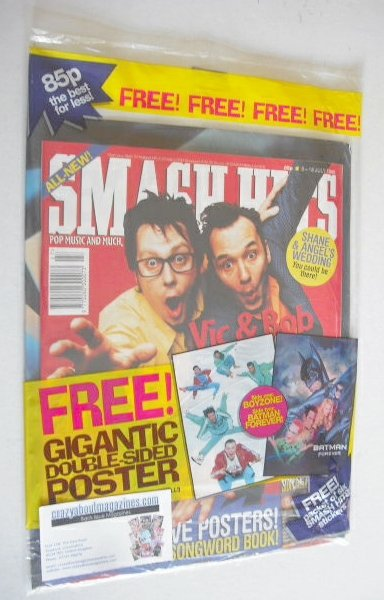 <!--1995-07-05-->Smash Hits magazine - Vic Reeves and Bob Mortimer cover (5