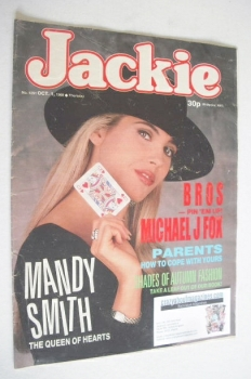 Jackie magazine - 1 October 1988 (Issue 1291 - Mandy Smith cover)