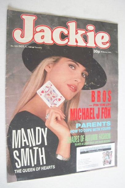 <!--1988-10-01-->Jackie magazine - 1 October 1988 (Issue 1291 - Mandy Smith