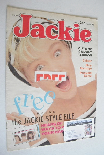 <!--1987-10-10-->Jackie magazine - 10 October 1987 (Issue 1240)