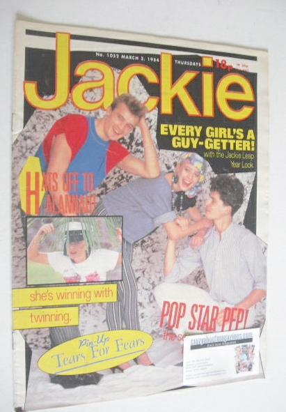 <!--1984-03-03-->Jackie magazine - 3 March 1984 (Issue 1052)