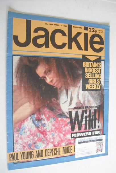 <!--1985-04-13-->Jackie magazine - 13 April 1985 (Issue 1110)