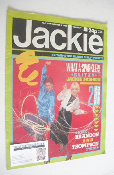 <!--1985-11-09-->Jackie magazine - 9 November 1985 (Issue 1140)