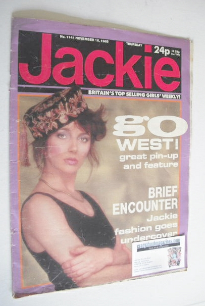 <!--1985-11-16-->Jackie magazine - 16 November 1985 (Issue 1141 - Kate Bush