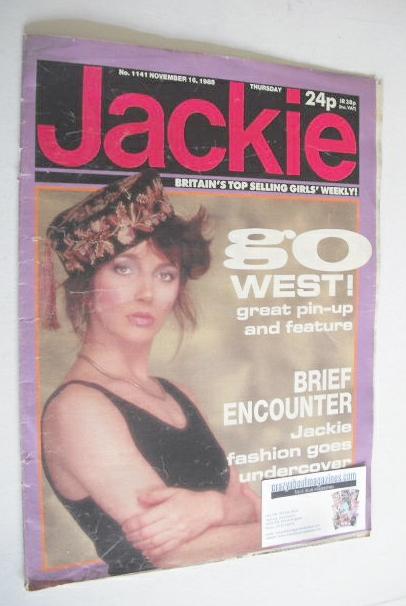 <!--1985-11-16-->Jackie magazine - 16 November 1985 (Issue 1141 - Kate Bush