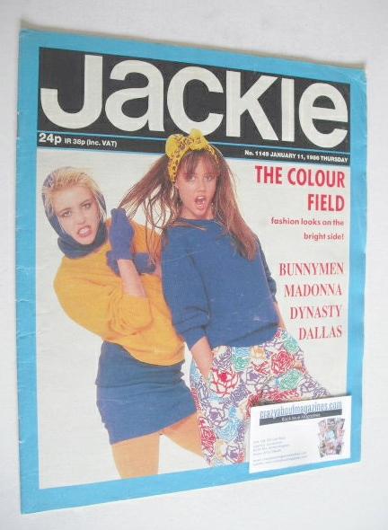 <!--1986-01-11-->Jackie magazine - 11 January 1986 (Issue 1149)