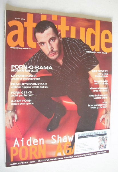 <!--1998-02-->Attitude magazine - Aiden Shaw cover (February 1998 - Issue 4
