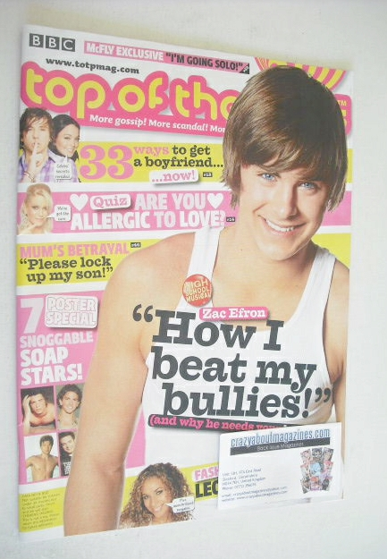 <!--2007-01-17-->Top of the Pops magazine - Zac Efron cover (17 January - 1