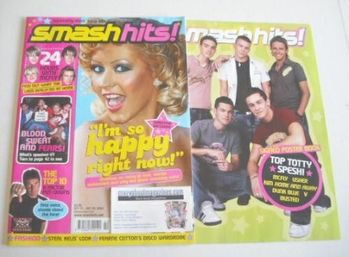 <!--2004-10-15-->Smash Hits magazine - Christina Aguilera cover (15-28 Octo