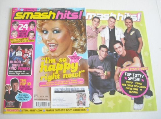 <!--2004-10-15-->Smash Hits magazine - Christina Aguilera cover (15-28 Octo
