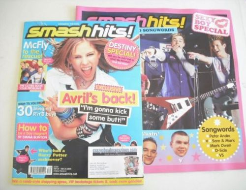<!--2004-05-14-->Smash Hits magazine - Avril Lavigne cover (14-27 May 2004)