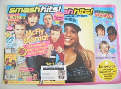 <!--2004-04-30-->Smash Hits magazine - McFly cover (30 April - 13 May 2004)